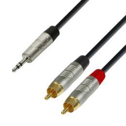 Miniplug-stereo-2xRCA-REAN